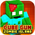 Cube Gun 3D : Zombie Island - Fight off zombies in this cube-based world