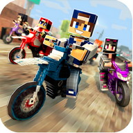 Dirtbike Survival Block Motos - Steer your square-headed friends in this dirt bike racing game