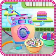 Dirty Laundry Washing Girls Games