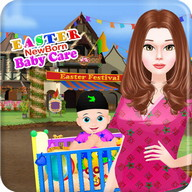 Newborn baby easter games