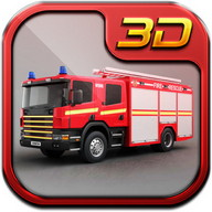 American Fire Fighter Truck 3D 2018
