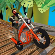 Motorcycle Stunt Jungle Race