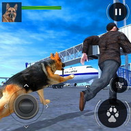 3D Police Dog Airport Security