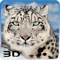Salvaje Nieve Leopardo Ataque