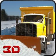 WinterSchnee-Pflug-LKW-Fahrer