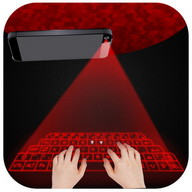 Hologram 3D keyboard simulated