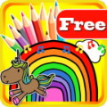 KIDS COLORING BOOK PONY