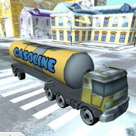 Christmas Snow Truck Driving