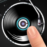 黑胶唱片记录的手指DJ