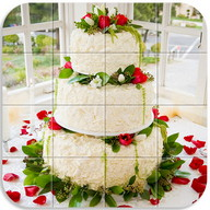 Tile Puzzle Wedding Cake
