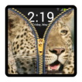 zipper lock screen - leopard