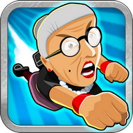 Angry Gran Toss - Throw the angry grandma as far as you can