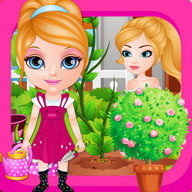 Baby Hazel Learns Gardening