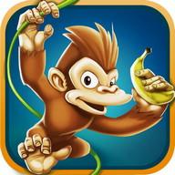 Małpa Gry Bieganie i Zbieranie