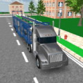 Car transport 3D trailer truck