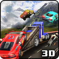 Autobahn Smashing Lastwagen 3D