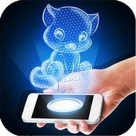 Hologram Kitten 3D Simulator