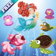 حوريات البحر والأسماك للأطفال