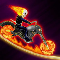 Moto Fire - A 2D motorcycle racing game for ghost riders