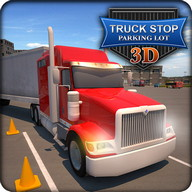 Truck Stop Parking Lot 3D