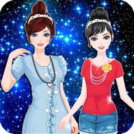 Twin Princess dress up make up