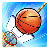 Basket Fall - Cut the rope to get the ball to fall into the basket