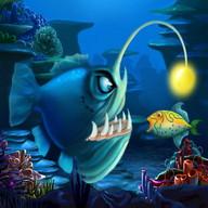 Fische fressen kleine Fische