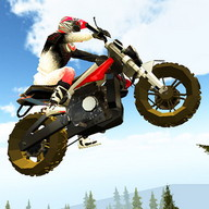 Trail Bike Extreme Stunt Rider