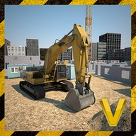 Construction city 3D simulator - A simulator in which you build with construction vehicles