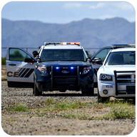 Polizei Autofahrer jagen 3d