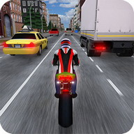 Race the Traffic Moto - Drive your motorcycle at top speed down the highway