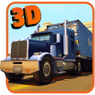 Real truck parking 3d trailer