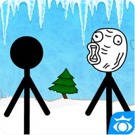 Stickman face and troll