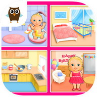 Sweet Baby Girl - Dream House - Play house with this cute little girl