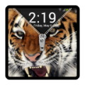 Zipper Lock Screen - Tiger