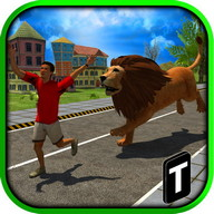 Angry Lion Attack 3D - Become a lion and attack everything that moves