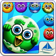 Bubble Bird - Birds and colorful bubbles in this match-3 game