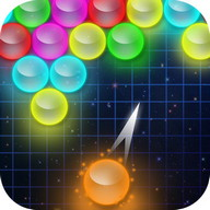 Bubble Shooter Glow - Light your screen up with colors in this bubble shooter