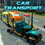 Car Transport Trailer Truck 4d