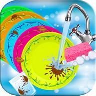 Washing dishes girls games