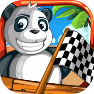 Turbo Toy Car-Panda Beach Race