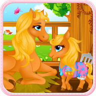 Pony Gives Birth Baby Games