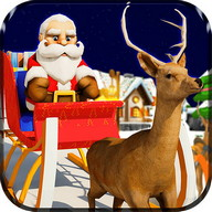 Santa Christmas Transport 3D