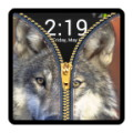 zipper lock screen - wolf