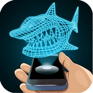 Hologram Shark 3D Simulator