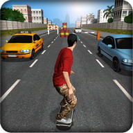 Street Skater 3D - A 3D skate game in endless-runner style
