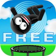 Stickman Trampoline FREE - Flip Master!