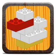 Animals with building bricks