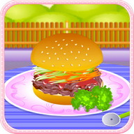 Pork burger cooking games