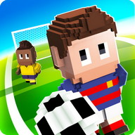 Blocky Soccer - Dodge your opponents and score goals